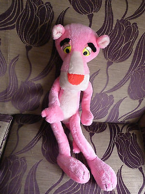 Pink Panther Vintage 1980S Large bendable Soft Toy By Mighty Star