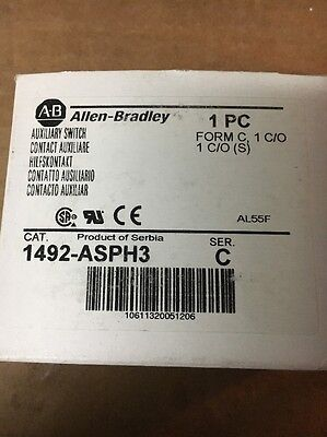 ALLEN BRADLEY Auxiliary Contact Switch 1492 ASPH3 New In Factory Box Lot Of 6