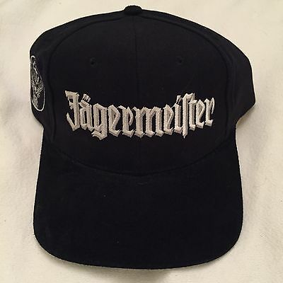 Black Jagermeister Hat With White Embroidered Logo