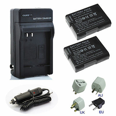 Battery Wall &Car Charger for Nikon EN-EL14a D5500 D5300 D5200 D5100 D3300 D3200