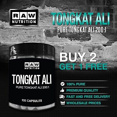 Raw Nutrition - Pure Tongkat Ali 200:1 Root Extract - 150 Capsules