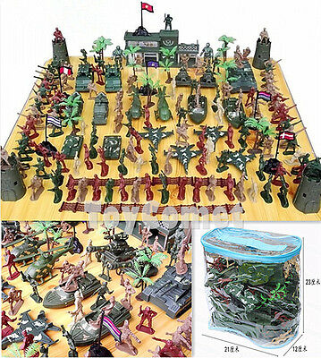 146 pcs Military Plastic Toy Soldiers Army Men 5cm Figures & Accessories Playset
