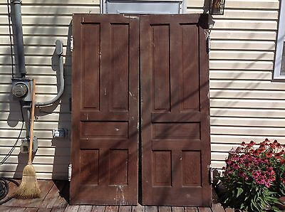 VINTAGE WOODEN CHURCH SWINGING DOORS 83.50x59 OVERALL INCHES