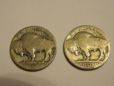 1916 & 1914 S D? Buffalo Nickels Acid Recovered Dates