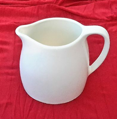 Wembley Australian Pottery White Jug 30 Ounce ~ Back Stamped ~