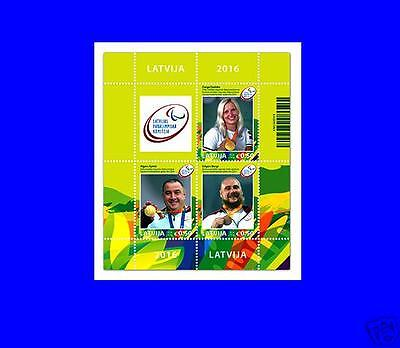 Latvia Lettland 2016 Para olympic games champions from Lettonia Rio-2016 S/S MNH