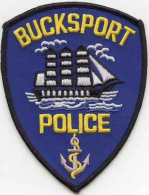 BUCKSPORT MAINE ME sailing ship POLICE PATCH