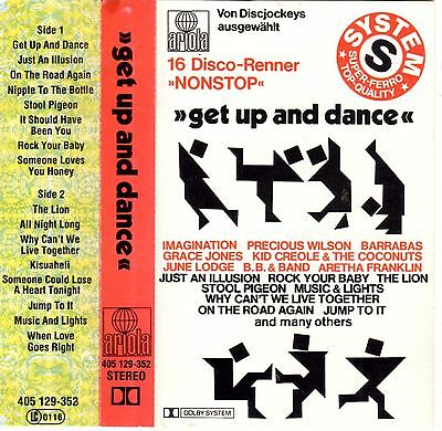 GET UP AND DANCE V/A 16 Disco-Renner NONSTOP rare MC Tape MUSIKKASSETTE Barrabas