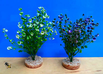 Aquarium Ornament Water Cups Flower Artificial Plant Fish Tank Bowl Decoration