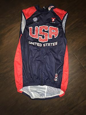 Men's Cuore USA National Olympics Team Jersey Cycling Wind Vest Small S