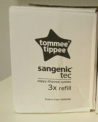 Tommee Tippee Sangenic Tec Compatible Cassette Nappy Disposal System Pack of 3