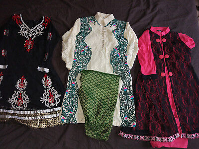 Gilrs Asian India Pakistani Clothes Job Lot 3 dress 5 year