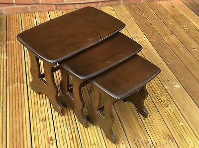 Ercol 1980's 498B Chantry nest of tables Traditional finish Ship Worldwide