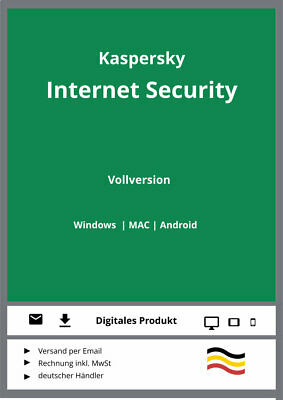 Kaspersky Internet Security 2019 (1, 2, 3, 5 oder 10 PC / Geräte, Multi-Device)