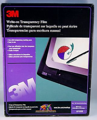 """Transparency Film 3M AF4300 Write-On 8.5"""" x 11""""  75 count in box"""