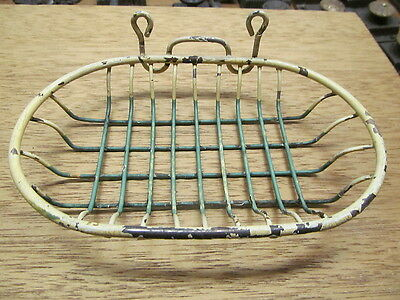 Nice Old Antique  Vintage Oval Wire Soap Dish Holder