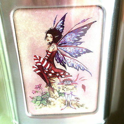 """New Amy Brown 2006  Stainless Steel 3OZ Flask Fairy Faery New in Box 4"""" Tall"""