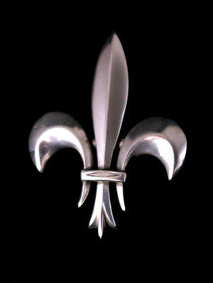 NEW large pewter  fleur de lis brooch clasp pin costume medieval LARP theatre