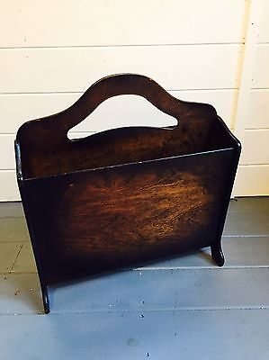 Vintage/Retro Oak Magazine/ Newspaper /Storage Rack