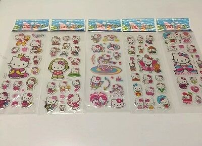 [USA Seller] Hello Kitty Puffy Stickers - 5 Sheets Variety Pack