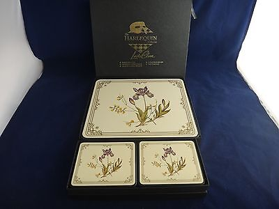 Spode STAFFORD FLOWERS Placemats & Coasters ~IRIS~Boxed