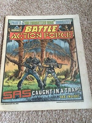 BATTLE Action Force Comic Vintage Magazine 17th August 1985 Weekly