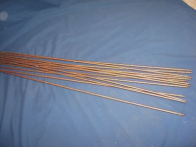 "13 Vintage Steel Metal Carpet Rods Stair Holder Round 30 1/8"" long x"