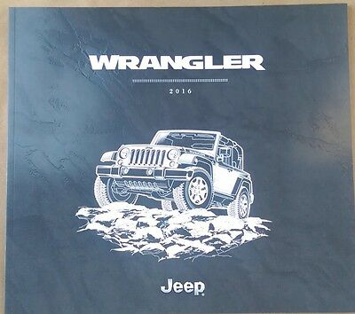 2016 Jeep Wrangler Unlimited  46-page Original Sales Brochure Book Guide Oem
