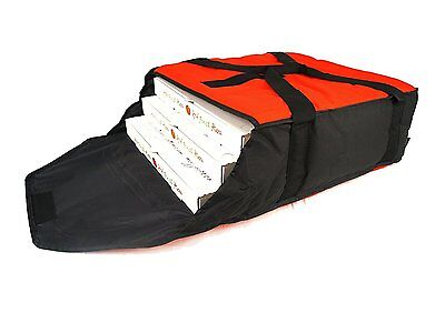 RUMA Delivery Pro Pizza Insulated delivery bag Red Black 20x18x6 food hot warm