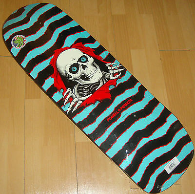 """POWELL PERALTA - Ripper Skateboard Deck - '80s Classic - 10 x 31.75"""" Turquoise"""
