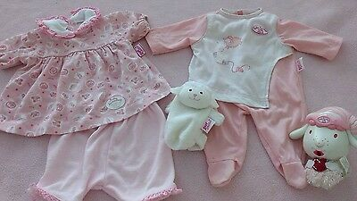 Baby Annabell outfits, bottle holder & dummy holder, great condition!