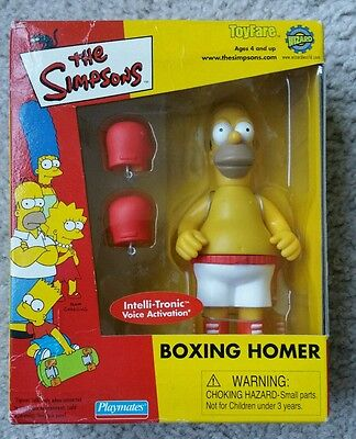 Simpsons Interactive Boxing Homer Figure ToyFare Brand New In Sealed Box