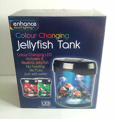 Jellyfish - Light Up Tank - 3 Realistic Colour Changing - Enhance Mood Lighting