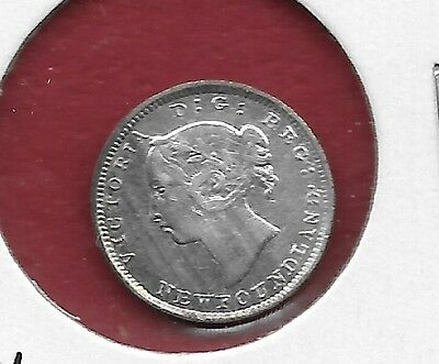 1896 Newfoundland Silver Five Cent - Cleaned