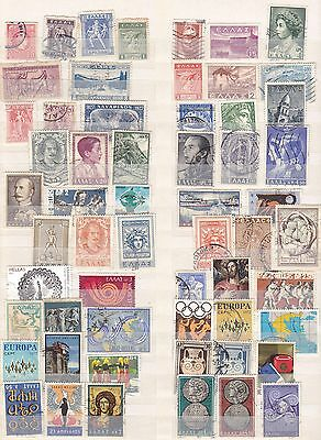 Over 50 all different stamps of Greece