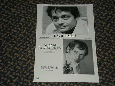 David Jason - very rare original 1977 acting Z-page. Only Fools and Horses. &