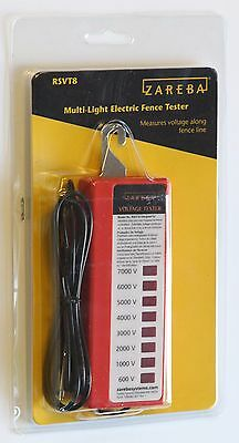 NEW  Zareba RSVT8 Electric Fence Voltage Tester