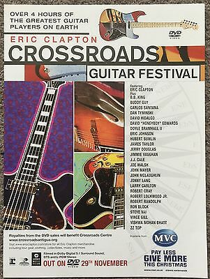 ERIC CLAPTON - CROSSROADS 2004 full page magazine ad