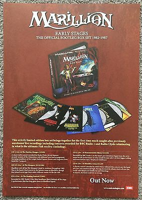 MARILLION - EARLY STAGES 2008 full page magazine ad FISH