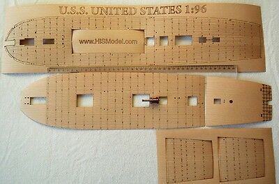 Revell USS United States - wood deck for model, 1:96