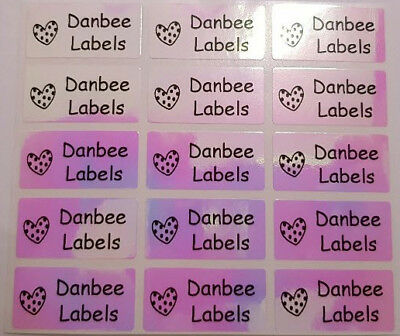 Medium Rainbow Personalised Name Stickers, Name Labels, 30x15mm, Waterproof