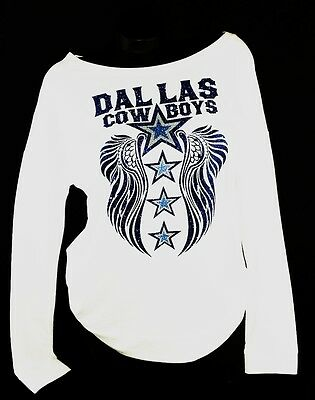 Dallas Cowboys Scoop Neck Raw Edge Terry Light Wt.Jersey 3/4 Sleeve Game Top.
