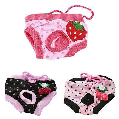 Physiological Sanitary Panties Female Pets Dog Cat Puppy Diaper Shorts Nappy