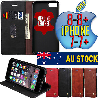 Apple iPhone 7 / Plus Magnetic Leather Protective Case Cover Mobile Phone Wallet