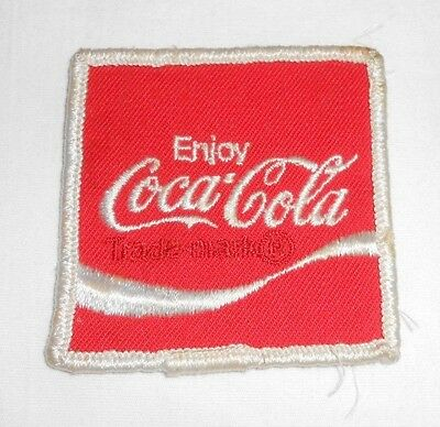 Vintage Coca Cola Coke cloth square advertising patch