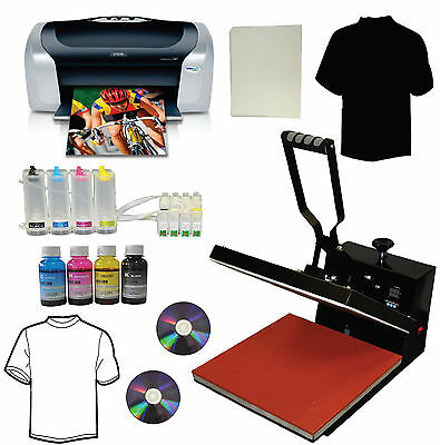 New 15x15 Heat Press,Epson Printer,CISS,Bulk Ink Kit,Heat Press Transfer Tshirt