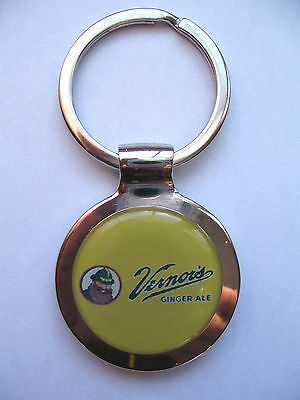 Vernor's Soda Key Chain, Vernor's Ginger Ale Logo Keychain, Vernor's Key Chain
