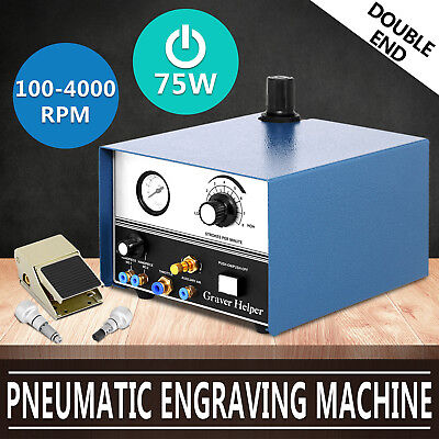 New Pneumatic Engraving Machine Double Ended Impact Graver Jewelry Engraver