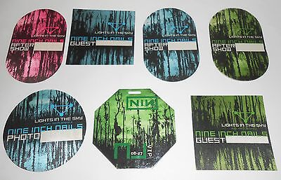 Nine Inch Nails VIP 2008 Backstage Pass Lot of 7 Lights in the Sky Tour
