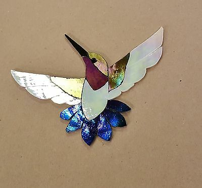 Precut Stained Glass Kit Male Hummingbird Mosaic Inlay Garden Stone Craft
